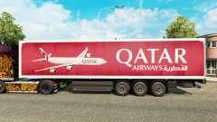 El de Qatar Airways en la piel para remolques