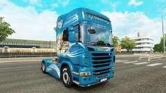 La piel Leonado tractor Scania