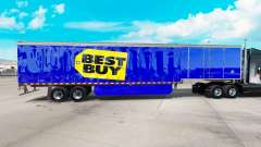 La piel de Best Buy en cortina semi-remolque