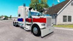 La piel de La Perla en el camión Peterbilt 389