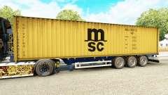 El semirremolque-el portacontenedores MSC Tripul