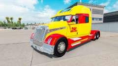 La piel de DHL para un camión Concepto de camión