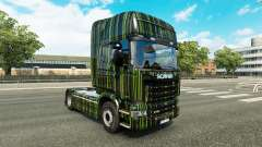 Rayas verdes de la piel para Scania camión