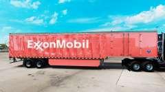 La piel de ExxonMobil en una cortina semi-remolq