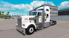 La piel de Escocia en el camión Kenworth W900