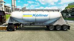 La piel Spedition Kollner cemento semi-remolque
