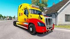 La piel de DHL para tractor Freightliner Cascadi