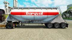 La piel Baryval semi-remolque de cemento