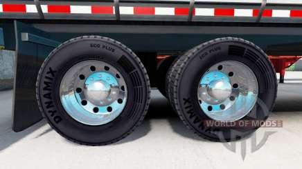 Llantas de cromo plateado de semi-remolques para American Truck Simulator