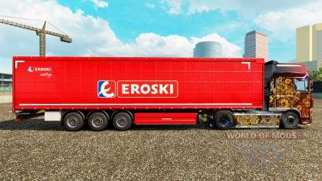 La piel Eroski en una cortina semi-remolque para Euro Truck Simulator 2