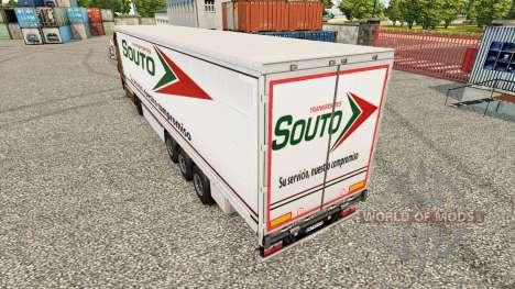La piel Souto cortina semi-remolque para Euro Truck Simulator 2