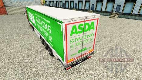 La piel de ASDA en una cortina semi-remolque para Euro Truck Simulator 2