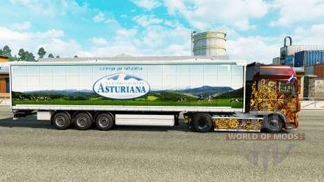 La piel Asturiana en una cortina semi-remolque para Euro Truck Simulator 2