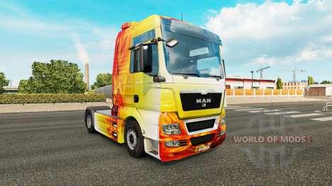 La llama de la piel para el HOMBRE camión para Euro Truck Simulator 2