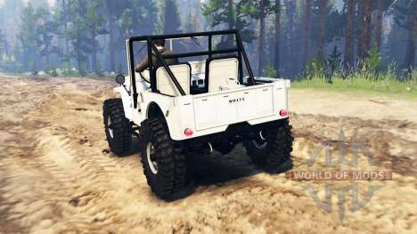 Jeep Willys para Spin Tires