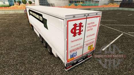 La piel Hayton Coulthard Ltd en cortina semi-rem para Euro Truck Simulator 2
