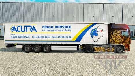 La piel Acutra en una cortina semi-remolque para Euro Truck Simulator 2
