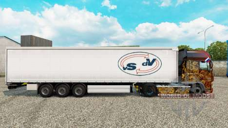 La piel De las Vigas De Vries cortina semi-remol para Euro Truck Simulator 2