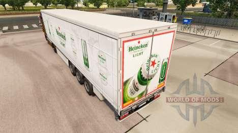 La piel Heineken cortina de Luz semi-remolque para Euro Truck Simulator 2