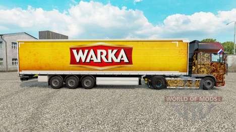 La piel Warka cortina semi-remolque para Euro Truck Simulator 2