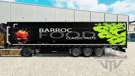 La piel Barroco de Alimentos en una cortina semi para Euro Truck Simulator 2