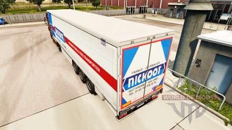 La piel Nickoot en una cortina semi-remolque para Euro Truck Simulator 2