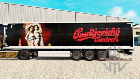 La piel de Budweiser en una cortina semi-remolqu para Euro Truck Simulator 2