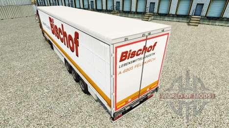 La piel Bischof en una cortina semi-remolque para Euro Truck Simulator 2