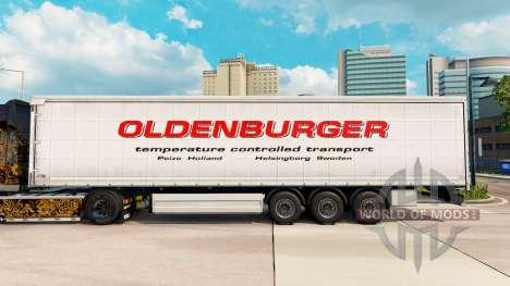 La piel Ğoldenburgerğ cortina semi-remolque para Euro Truck Simulator 2