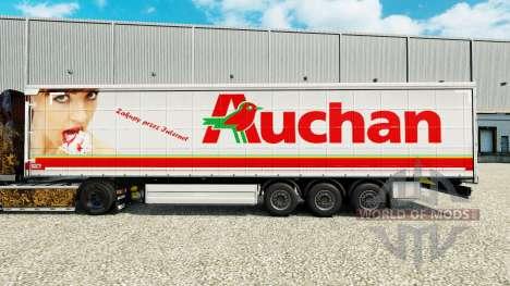Auchan de la piel para la cortina semi-remolque para Euro Truck Simulator 2