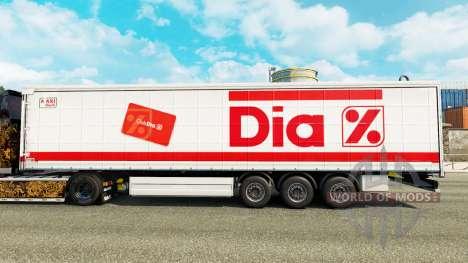 La piel de Dia en una cortina semi-remolque para Euro Truck Simulator 2