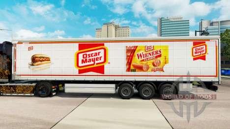 La piel de Oscar Mayer cortina semi-remolque para Euro Truck Simulator 2