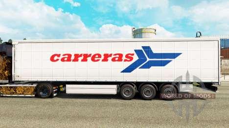 La piel Carreras en una cortina semi-remolque para Euro Truck Simulator 2