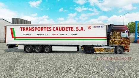 La piel de Transportes Caudete S. A. cortina sem para Euro Truck Simulator 2