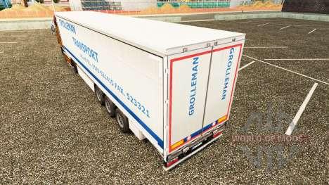 La piel Grolleman de Transporte en semi-remolque para Euro Truck Simulator 2