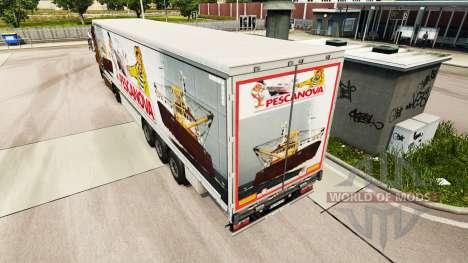 La piel Pescanova cortina semi-remolque para Euro Truck Simulator 2