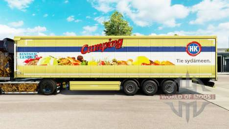 La piel HK Acampar en una cortina semi-remolque para Euro Truck Simulator 2