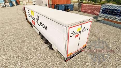 Simon Loos de la piel de la cortina semi-remolqu para Euro Truck Simulator 2
