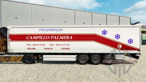 La piel de Campillo Palmera en una cortina semi- para Euro Truck Simulator 2