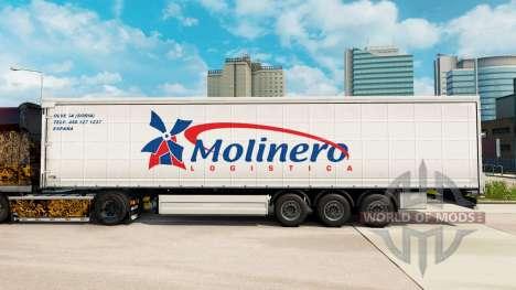 La piel Molinero Logística en una cortina semi-r para Euro Truck Simulator 2