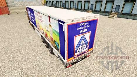 La piel Aldi Markt v2 en una cortina semi-remolq para Euro Truck Simulator 2