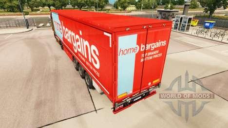 La piel en Casa Ofertas de cortina semi-remolque para Euro Truck Simulator 2