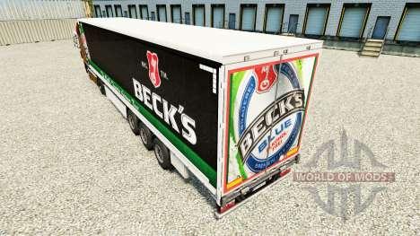 La piel Becks en una cortina semi-remolque para Euro Truck Simulator 2