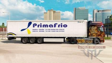 La piel Primafrio cortina semi-remolque para Euro Truck Simulator 2