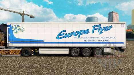 La piel Europa Volante en una cortina semi-remol para Euro Truck Simulator 2