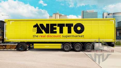 La piel Netto en una cortina semi-remolque para Euro Truck Simulator 2