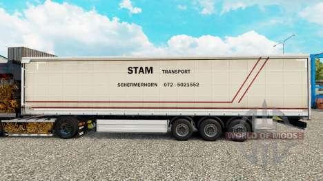 La piel PTS cortina semi-remolque para Euro Truck Simulator 2