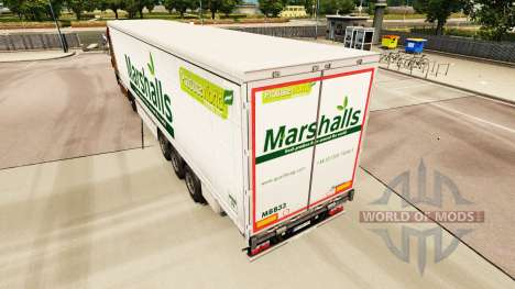 La piel de Marshalls en una cortina semi-remolqu para Euro Truck Simulator 2