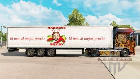 La piel Mariscos Recio en una cortina semi-remol para Euro Truck Simulator 2