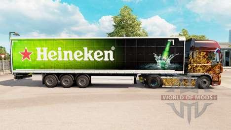 La piel de Heineken para la cortina semi-remolqu para Euro Truck Simulator 2